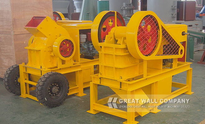 4 ton per hour diesel engine hammer crusher for sale