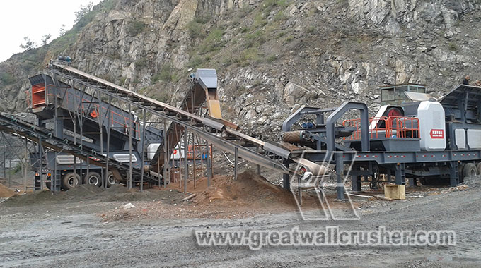 Portabkle jaw crusher plant for 100 t/h project  Manila Philipines