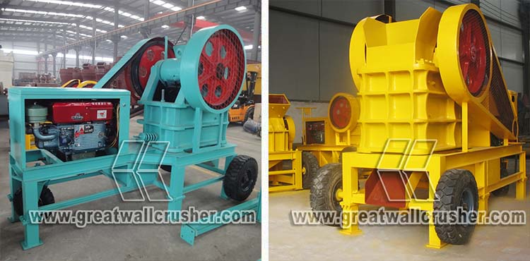 mini type portable diesel engine crusher